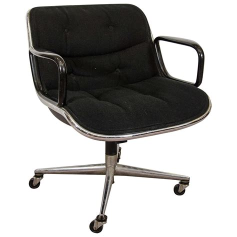 knoll pollock chair adjustment midcentury charles pollock for knoll executive chair with