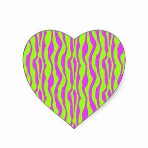 Pink and Green Zebra Print