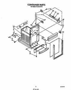 Kitchenaid Kucc151t0 Trash Compactor Parts