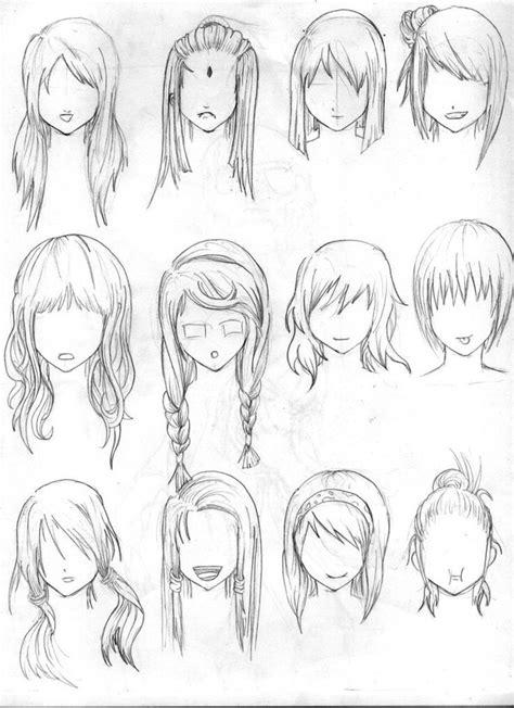 pin oleh animes chibi  drawing references rambut