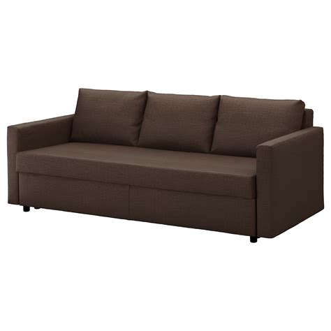 canapé friheten friheten three seat sofa bed skiftebo brown ikea