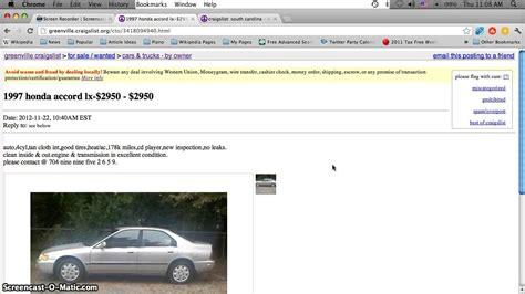 craigslist greenville sc  cars   sale