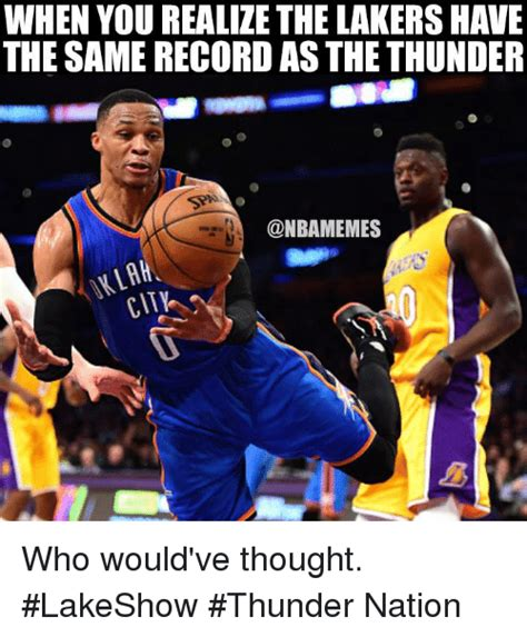 WHEN YOU REALIZE THE LAKERS HAVE THE SAME RECORD AS THE ...