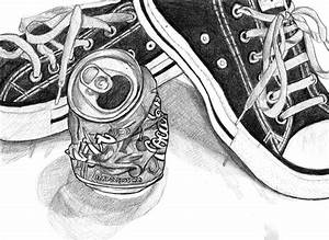 Crushed Coke Can and Converse by suzannasketch on DeviantArt