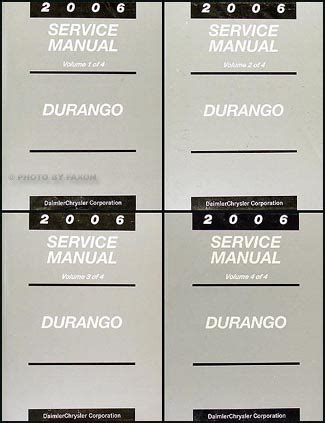 car manuals free online 2006 dodge durango electronic toll collection 2006 dodge durango repair shop manual original 4 volume set