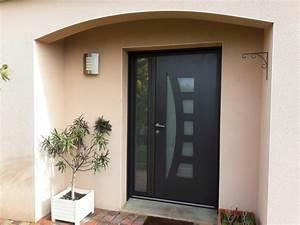 Porte D Entrée Tiercée : dov ouvertures porte d 39 entree tierce en aluminium k line ~ Carolinahurricanesstore.com Idées de Décoration