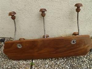 Porte Manteau Vintage : porte manteau 6 pateres bois metal vintage luckyfind ~ Teatrodelosmanantiales.com Idées de Décoration