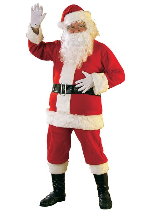 flannel santa suit men s christmas santa claus costumes