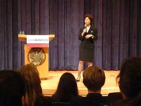 secretary  labor elaine chao speaks  students