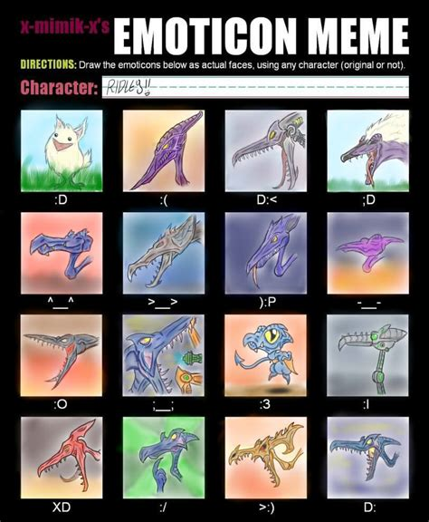 Metroid Memes - emoticon meme ridley by dalektopia on deviantart