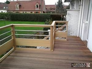 1000 ideas about terrasse bois sur pilotis on pinterest With garde corps inox terrasse
