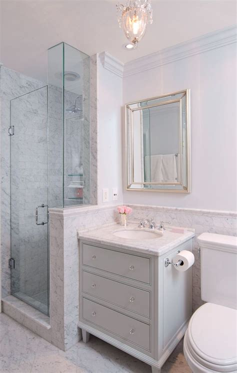 glam bathroom ideas marble detail cabinet vanity in glam bathroom by