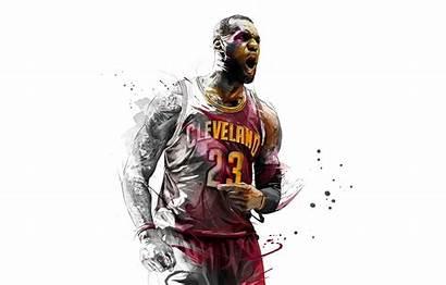 Lebron James Basketball 4k Cleveland 8k Artwork