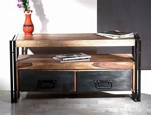 Möbel Industrie Look : lowboard bocas 112x55x40 cm sheesham altmetall tv m bel used look wohnbereiche wohnzimmer tv ~ Sanjose-hotels-ca.com Haus und Dekorationen