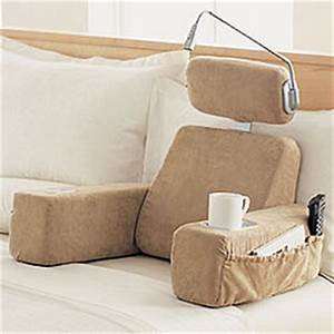 massaging bedrest pillow with heat findgiftcom With brookstone bed rest pillow