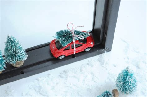 trees  cars diy christmas shadow box diy candy
