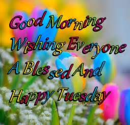 Good Morning Everyone Have a Blessed Tuesday