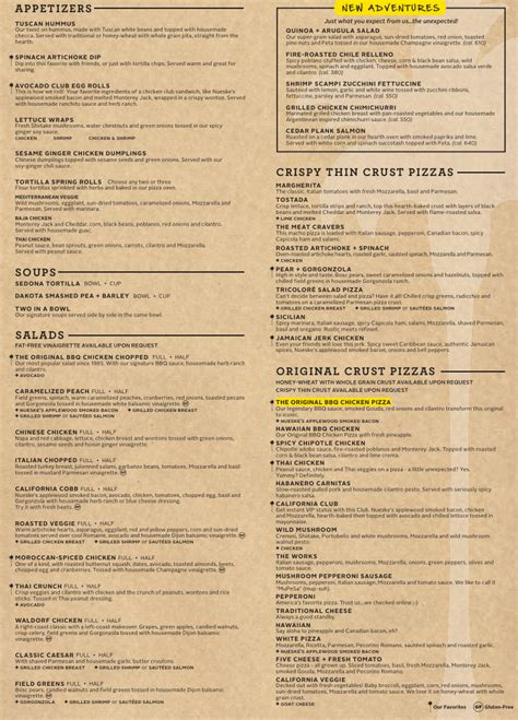 Menu For California Pizza Kitchen (2301 N Federal Hwy Fort