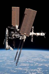 International Space Station and docked Space Shuttle ...