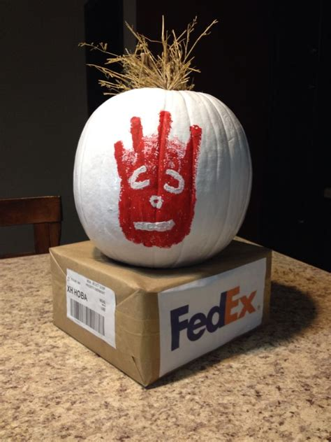 decoratedpumpkin funny wilson castaway cute pumpkin