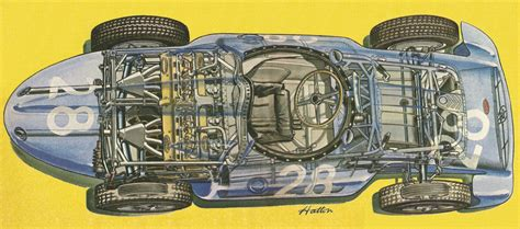 We have full information about one modification of type 251. 1955-1956 Bugatti Type 251 Grand Prix - Illustration by Brian Hatton | 20er