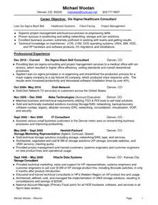 Lean Six Sigma Resume by Lean Consulting Qualimation Lean Resume And Cover