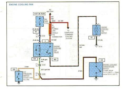 84 radiator cooling fan motor fusible link color amerage guage corvetteforum chevrolet