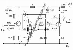 Baxandall Tone Control Circuits Using Two Transistor