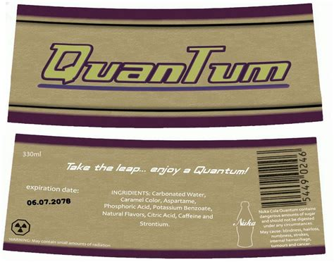 Nuka Cola Quantum Label by Nuka Cola Quantum By Nig 1988 On Deviantart
