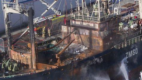 Fishing Boat Fire Nz by Burning Korean Fishing Boat Staying Put In Timaru Stuff