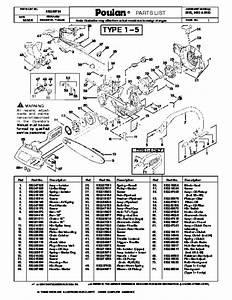 Poulan 2250 2450 2550 Chainsaw Parts List  2008