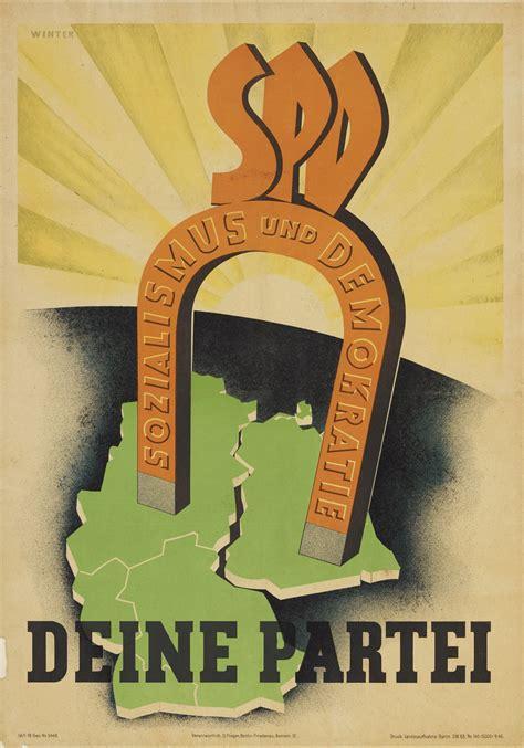 lemo objekt plakat der spd fuer demokratie und sozialismus