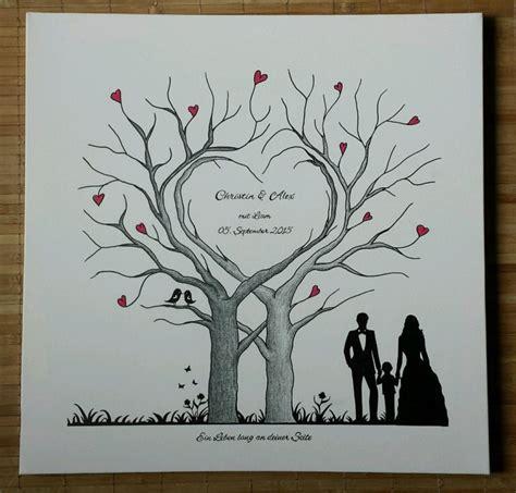 herz wedding tree hochzeit baum gaestebuch fingerabdruck