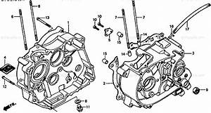 Honda Motorcycle 1986 Oem Parts Diagram For Crankcase