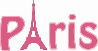 Paris Clipart Word Typography Transparent Svg Words