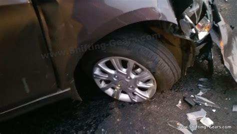 tata tiago crashes rear impact  dreadful shifting gears