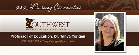 dr tanya yerigan southwest minnesota state university
