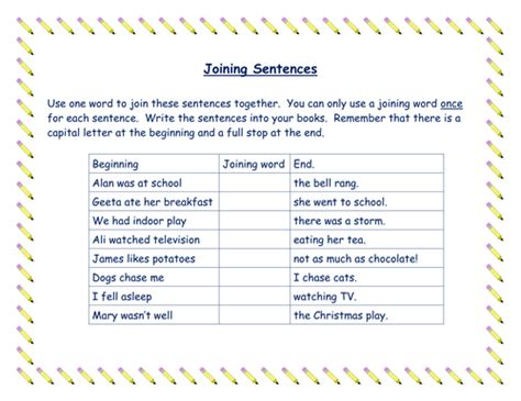 Use Of Joining Words (connectives) In Sentences By Richardson1508  Teaching Resources Tes