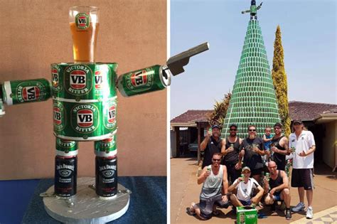 beer christmas tree stuns locals in perth australia daily star