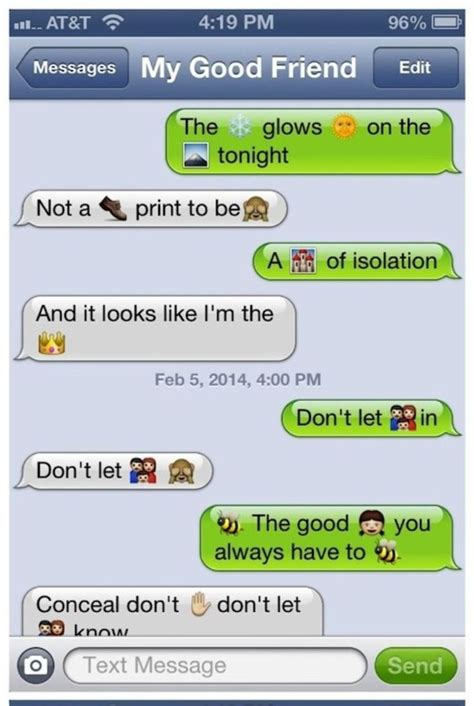 song lyrics cleverly translated  emoji text