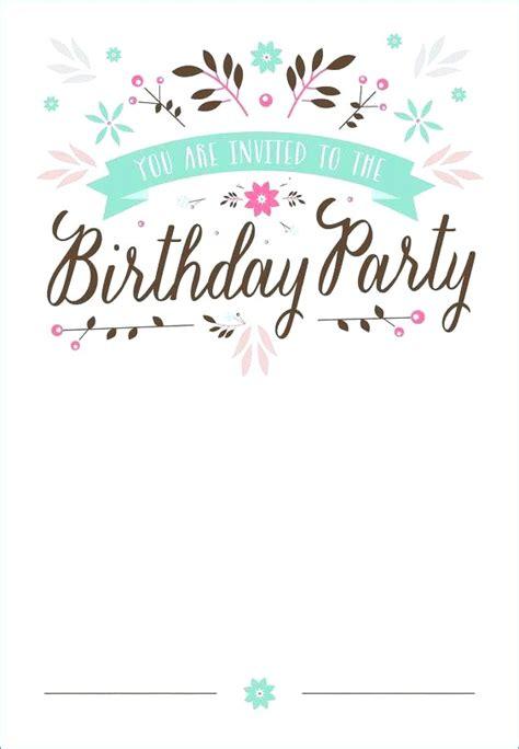 teenage birthday invitations  printable