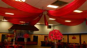 Halloween Table Decorations Pinterest by Red Chiffon Ceiling Drape Ceiling Drape Pinterest