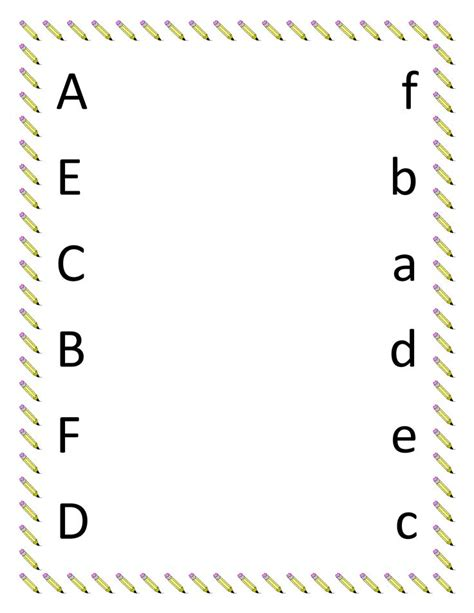 image detail for preschool matching worksheets