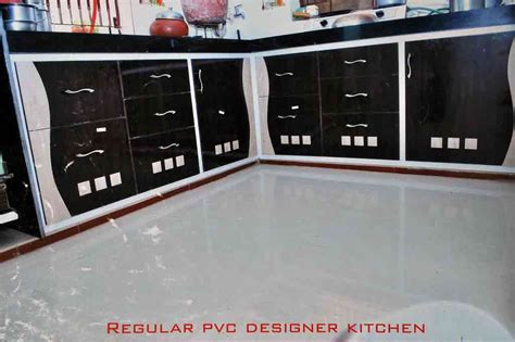 regular pvc designer kitchen furniture  ahmedabad kaka