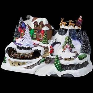 Decoration De Noel Exterieur Lumineuse : village de no l lumineux traineau du p re no l ~ Preciouscoupons.com Idées de Décoration