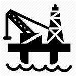 Oil Icon Rig Drilling Industry Gas Platform