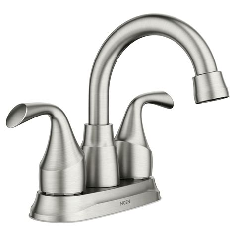 moen idora   centerset  handle bathroom faucet  spot resist brushed nickel srn
