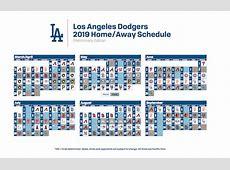 Los Angeles Dodgers 2019 regular season schedule
