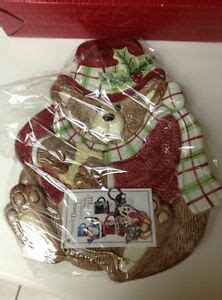 foto de FITZ & FLOYD BEAR SNACK THERAPY PLATE CHRISTMAS NEW W