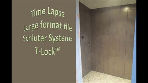 large format tile shower shcluter kerdi board glass